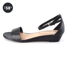 Černé letní sandály se zapínáním na kotníku ALDO