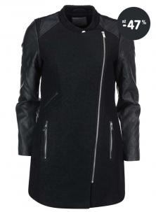 Černý zimní kabát pro ženy Vero Moda