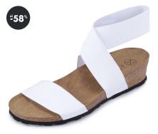 Dámské letní sandály bílé OJJU (levně)