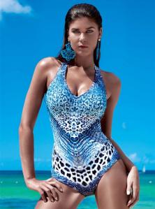 Dámské luxusní italské jednodílné plavky tvarující