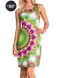 Desigual výprodej - šaty Adriana / zelené