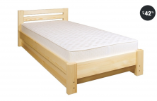 Jednolůžková borovicová postel s úložným prostorem