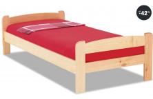Jednolůžková postel z masivu (Kabrhel)