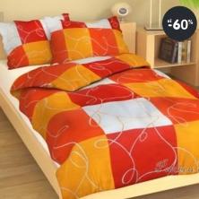 Nejlevnější povlečení z bavlny DOMINO, barva oranžová