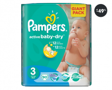 Pampers pleny Active Baby 3 Midi Giant Pack