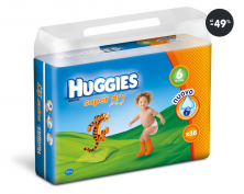 Pleny v akci Huggies Super Dry Double Pack Extralarge 6