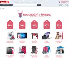 Povánoční výprodej (novoroční) v eshopu MALL