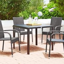 Zahradní nábytek JYSK - Stůl SKAGEN + 4 židle (7495 Kč)