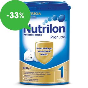 Dětská mléka Nutrilon 1, 2, 3, 4, 5 v akci – slevy až 33% a doprava zdarma