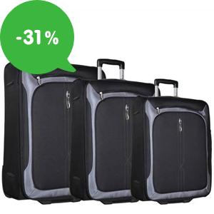 Výprodej: Cestovní kufry na kolečkách se slevou až 31%