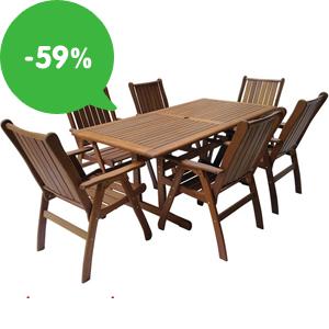 Výprodej: Zahradní nábytek se slevou až 59% + doprava zdarma