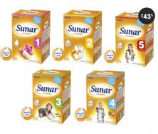 Akce - Sunar Complex 1, 2, 3, 4, 5 dětská výživa
