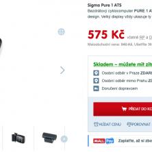Bezdrátový tachometr Sigma Pure 1 ATS