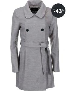 Dámský šedý zimní kabát VILA
