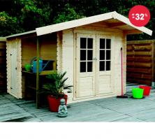 Dřevěný zahradní domek Solid (4,67 m2)