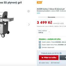 MAKERS Sydney 3 Deluxe SS plynový gril