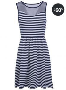 Modré letní levné šaty ONLY Niella