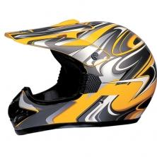 Motokrosová přilba WORKER MAX606-1 - D - žlutá