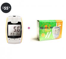 Nejprodávanější glukometr GlucoLab + 50 test.proužků zdarma