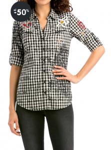 Outlet - Desigual košile kostkovaná Mery