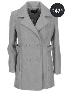 Šedý zimní kabát pro ženy VILA