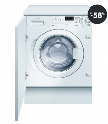 Vestavná pračka Siemens (sleva)