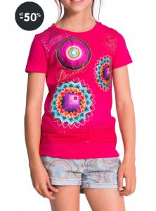 Výprodej Desigual tričko dívčí růžové