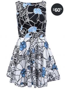Výprodej letní šaty s modrými detaily Closet