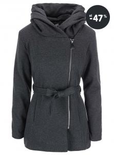 Výprodej - šedý kabát s kapucí Haily´s
