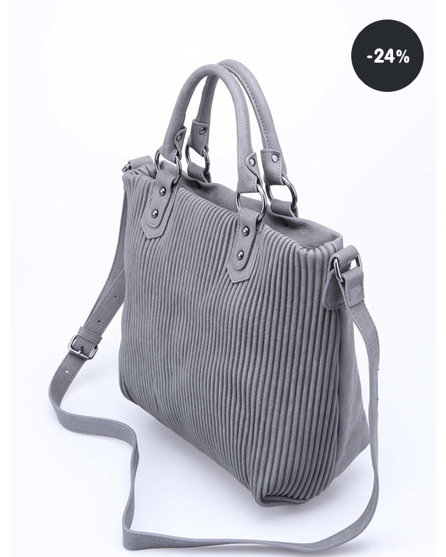 Akce kabelka pruhovaná větší Gionni Estefania (sleva 35%) Levná kabelka  šedá Pieces Elios (sleva 24%) ... 15cbcdd526c