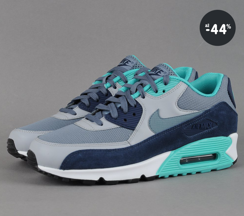 ... Pánské tenisky Nike Air Max 90 Essential (šedá modrá zelená) 816ec9a77ba