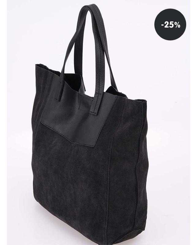 ... 25% sleva kabelka černá kožená Pieces Debbi Akce kabelka ... 0f8f65779e8