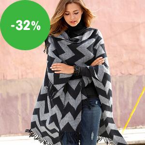Tip: Dámská ponča na zimu se slevou až 32%