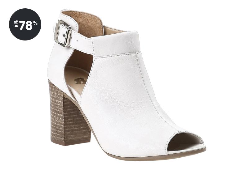 Výprodej - Baťa dámské boty kožené bílé (vysoký podpatek) ... 125df54cf2